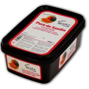 pure de sandia congelado para sorbetes, cocteles y sopas frías
